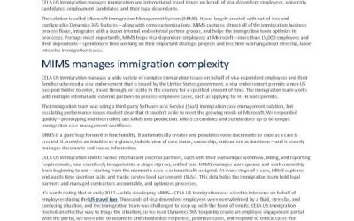 Creating an immigration workflow management solution with Dynamics 365