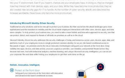 Microsoft identity-driven security