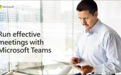 Run effective meetings with Microsoft Teams