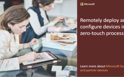 Social asset C: Remotely deploy and configure devices in a zero-touch process